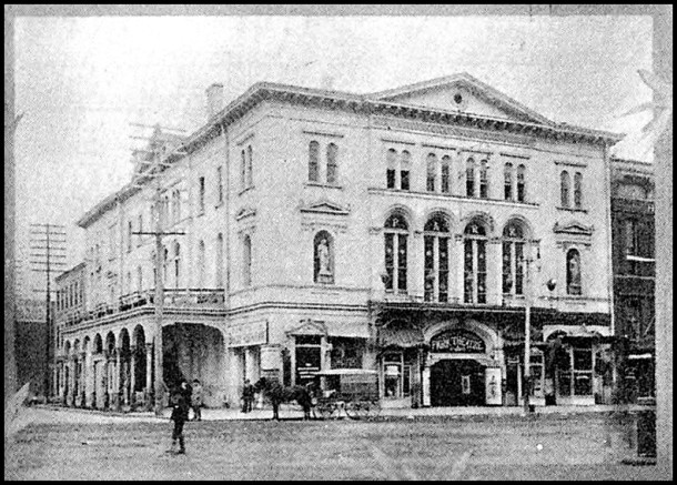 The Park Theater in 1893 from Indianapolis Illustrated, published that year.