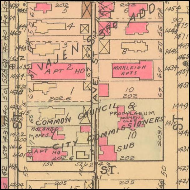 Propylaeum shown on the 1941 Baist Atlas #8