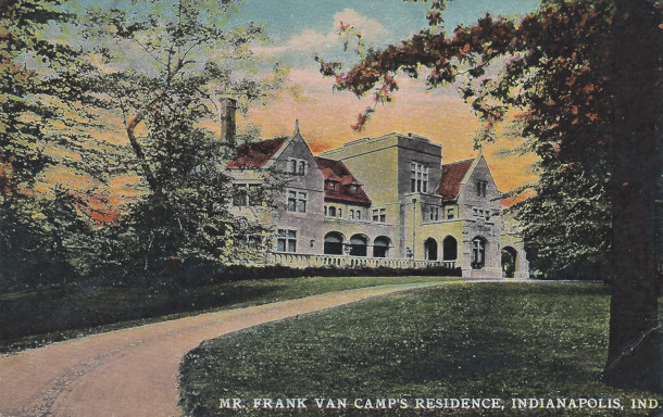 Postcard of Van Camp Residence c. 1910 (image courtesy of Evan Finch)