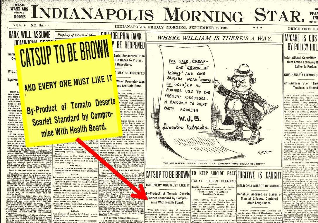 Indianapolis Collected: The Bloody Battle of the Catsup Bottle