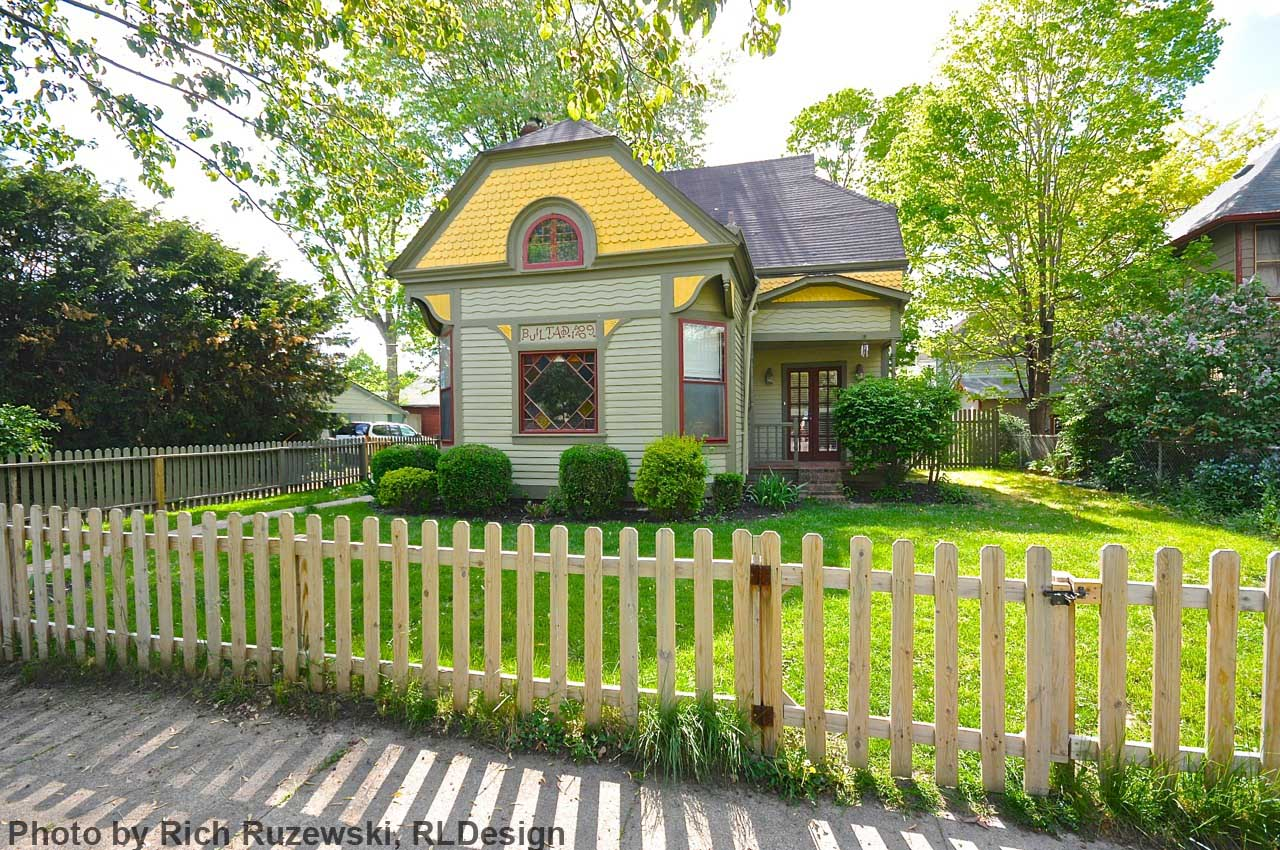 Indianapolis Then and Now: The Thompson-Mesker Cottage, 1014 N. Arsenal Avenue
