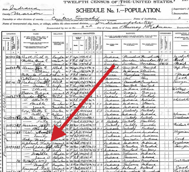 (1900 Census scan courtesy of Ancestry.com) [ CLICK TO ENLARGE ]