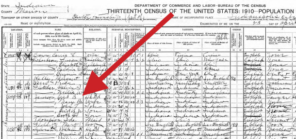 1910 Census scan courtesy of Ancesty.com [ CLICK TO ENLARGE ]