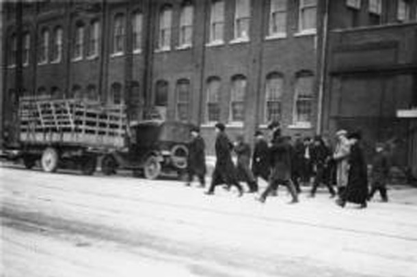 Nordyke & Marmon was one of the manufacturing companies that emplyed West Indianapolis residents (Bass Photo Company Collection courtesy of the Indiana Historical Society)
