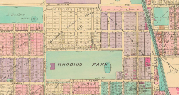 (Baist map courtesy of IUPUI Digital Archives)