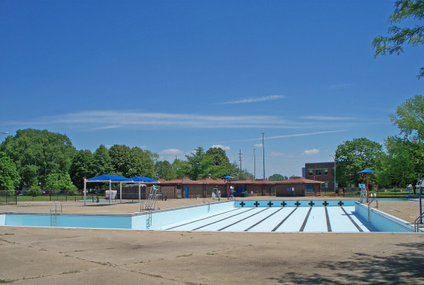 Rhodius Park swimming pool was completed in 1972 (photo by Sharon Butsch Freeland)