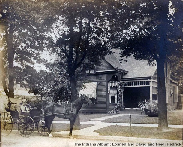 Circa 1900 snapshot of the cottage at 1014 N. Arsenal Avenue (The Indiana Album: Loaned by David and Heidi Hedrick)