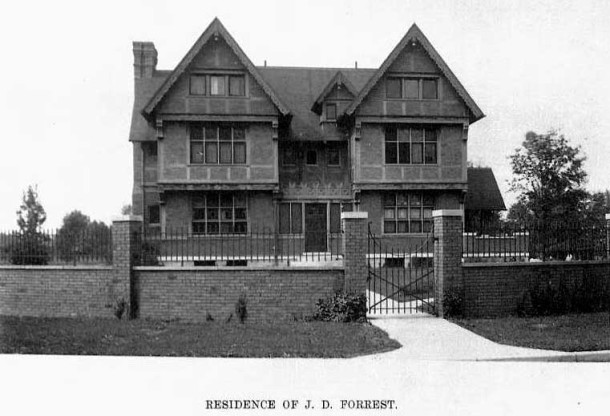 The home of J. D. Forrest (Photogravure from Art Work of Indianapolis, Indiana, 1908, p. 33, courtesy of IUPUI University Library)