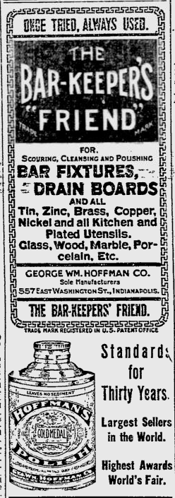 Sunday Adverts: George William Hoffman Co. (Bar-Keepers' Friend)