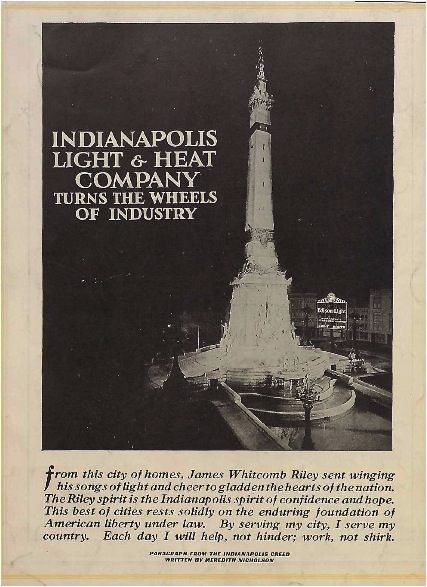Great Sunday Adverts: Indianapolis Light And Heat Company Nice Design