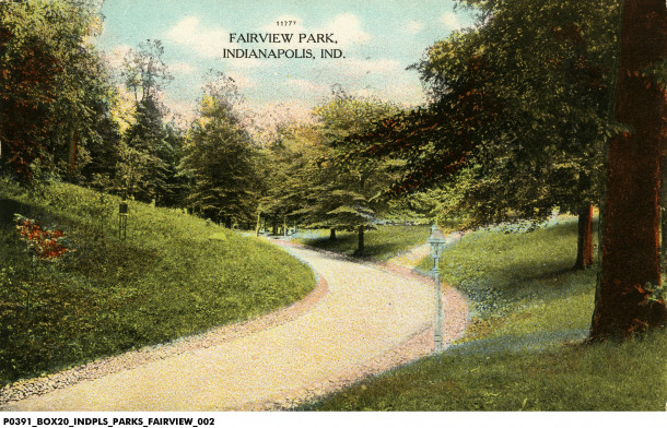 A postcard from Fairview Park. Photo courtesy of the Indiana Historical Society digital archives.