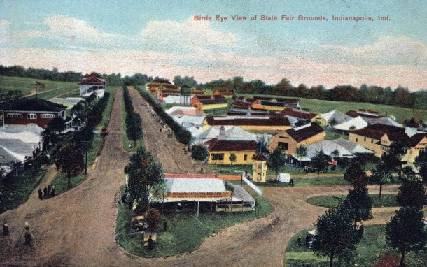 Postcard of the Indiana State Fair, postmarked 1908 (Courtesy of Evan Finch)