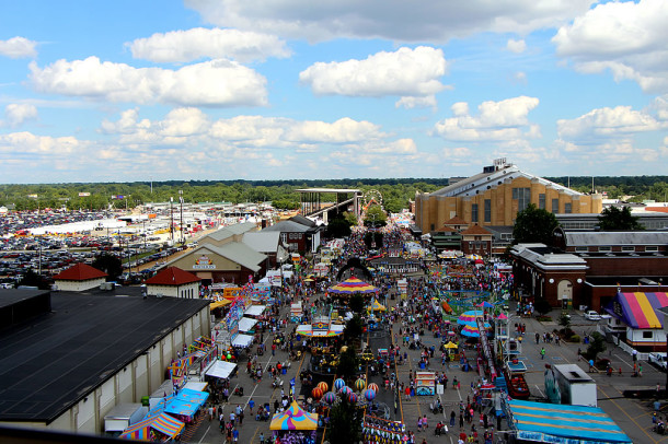 Similar view taken from the ferris wheel in 2013. (Courtesy of AroundIndy.com staff)