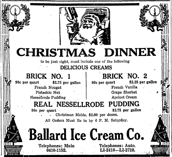 Sunday Adverts: Ballard Ice Cream Company