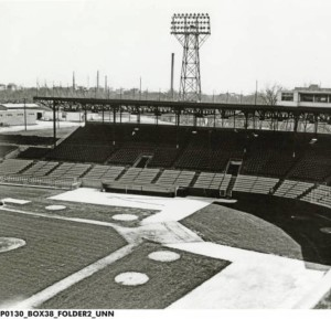 A view of Bush Stadium. Home of the Indians from 1931-1996 (photo courtesy of the Indiana Historical Society)