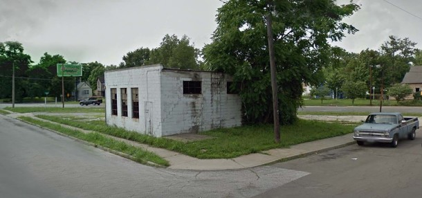 The site of 502 N. Highland Avenue in June 2011 (Google Street View)