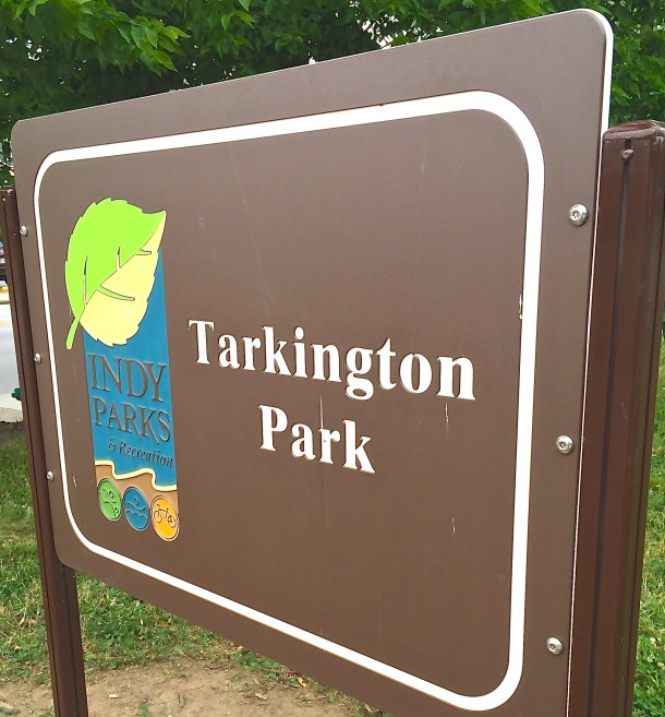 Tarkington Park is located at 39th and Meridian Streets