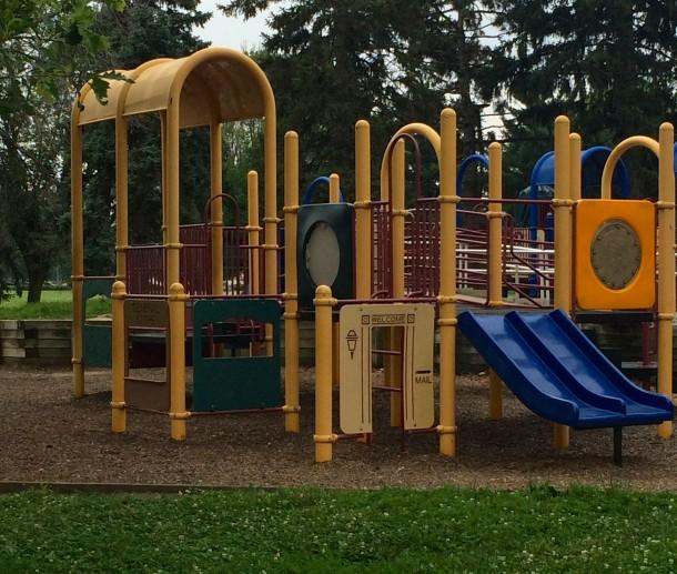 The playground at Tarkington Park