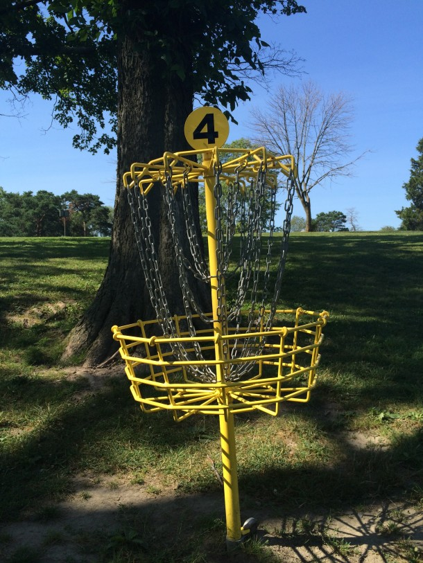 Washington Park is a favorite spot to pay disc golf