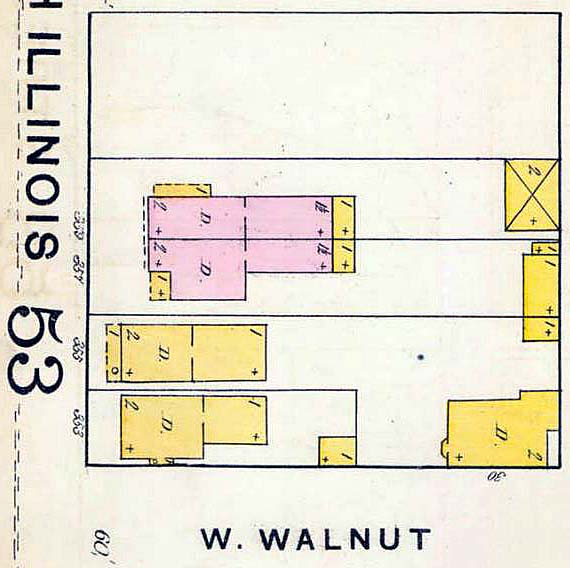 1887 Sanborn Fire Insurance Map #54 (IUPUI University Library)