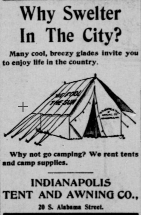 Sunday Adverts: Indianapolis Tent and Awning Company