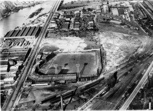 Overhead shot of Washington Park in it's final years (photo courtesy of the Indiana Historical Society)