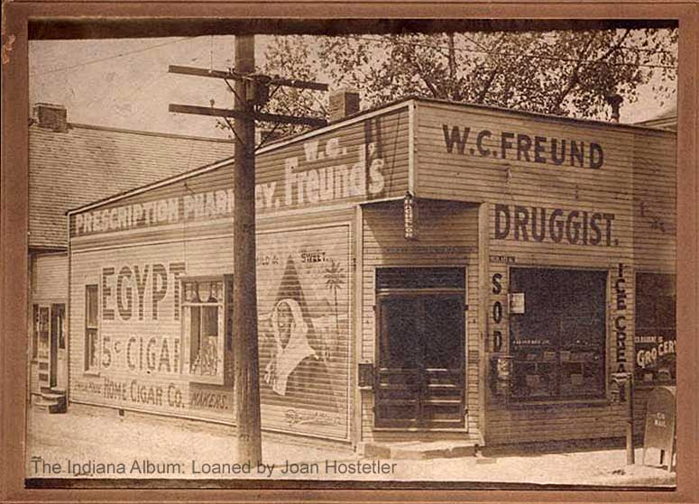 Indianapolis Then and Now: Freund's Pharmacy, 502 N. Highland Avenue