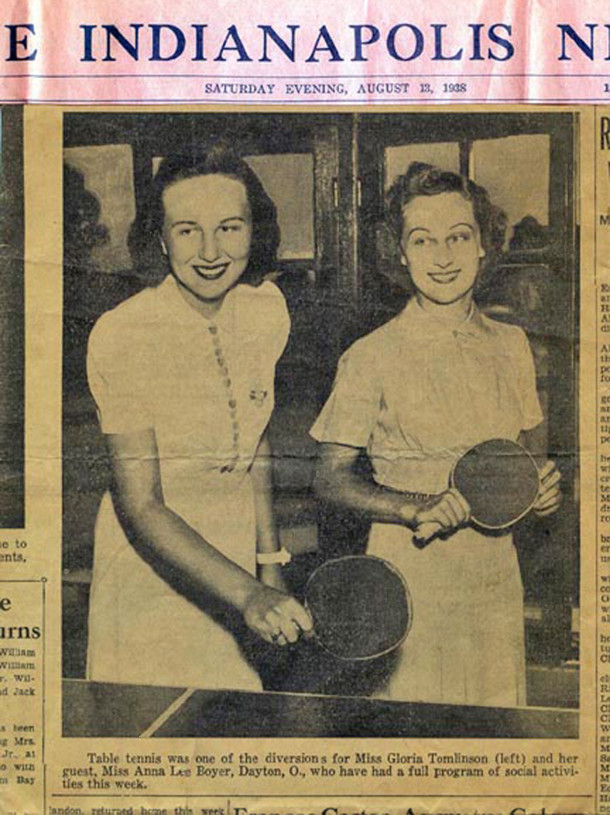1938 Indianapolis News article pictured an Esplanade Annex resident (newspaper clipping from the personal collection of Sharon Butsch Freeland)