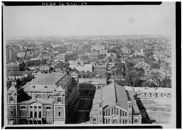 1888 view looking north from the Marion County Courthouse (Library of Congress, HABS Collection)