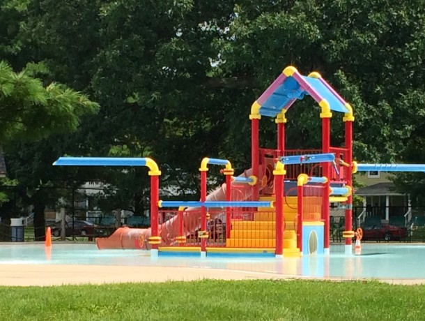 The pool at Brookside Park has a spray area for younger swimmers