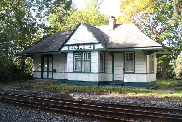The Augusta Station train depot was built in the early 1890s, after the original depot burned down (photo by Sharon Butsch Freeland)