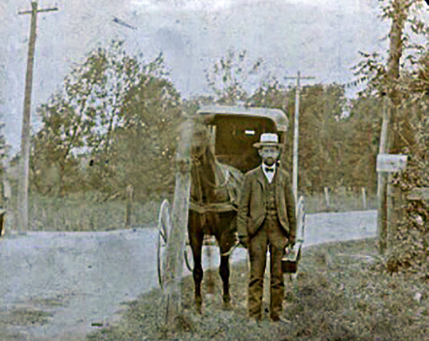 New Augusta doctor, George A. Coble, M.D. and his buggy in the 1890s (photo courtesy of his great-granddaughter, Robin Engl)