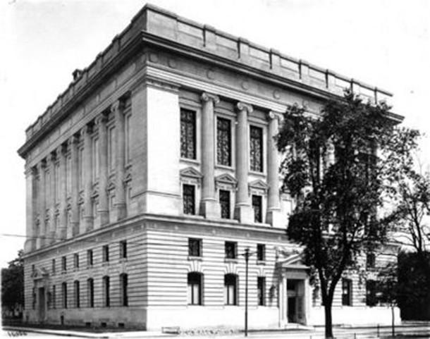 The Indiana Masonic Temple as it appeared shortly after it was built in 1909 (photo courtesy of the Indianapolis Masonic Temple Association, Inc.)