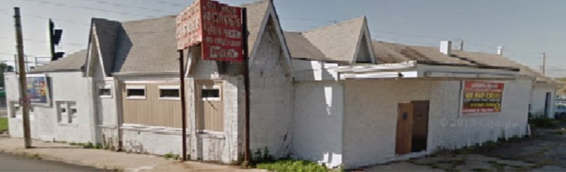 This 2011 street view shows the not so red gables of the building at 16th Street and Lafayette Road (courtesy Google Maps)