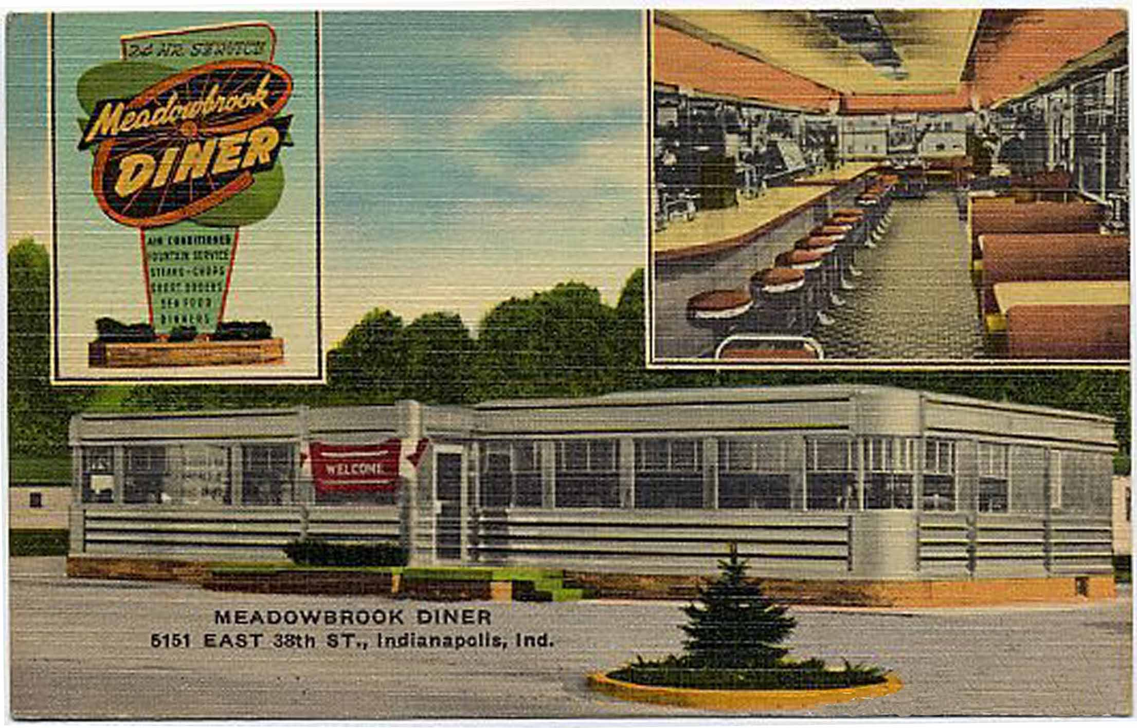 Indianapolis Then and Now: Meadowbrook Diner, 5151 E. 38th Street