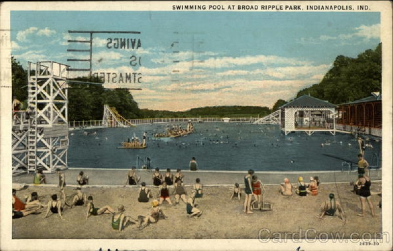 The massive pool was longer than a football field (courtesy eBay)
