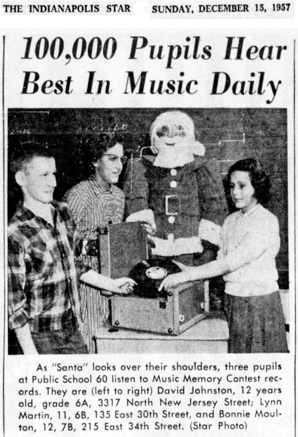 (1957 Indianapolis Star news clipping courtesy of newspapers.com)