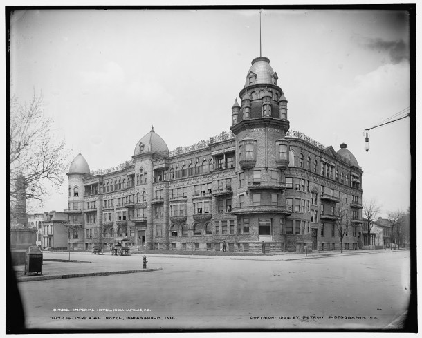 The Imperial Hotel, 1904 (Library of Congress Prints and Photographs Division, 1904 glass plate negative made by the Detroit Publishing Company)