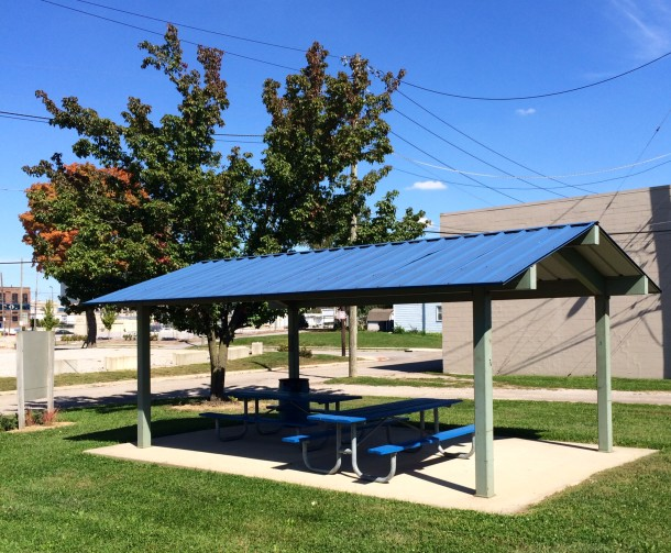 The picnic shelter at Babe Denny Park would be a great place to tailgate.