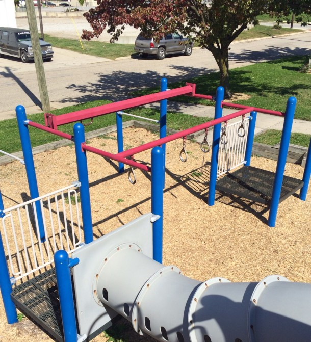 The playground at Babe Denny Park