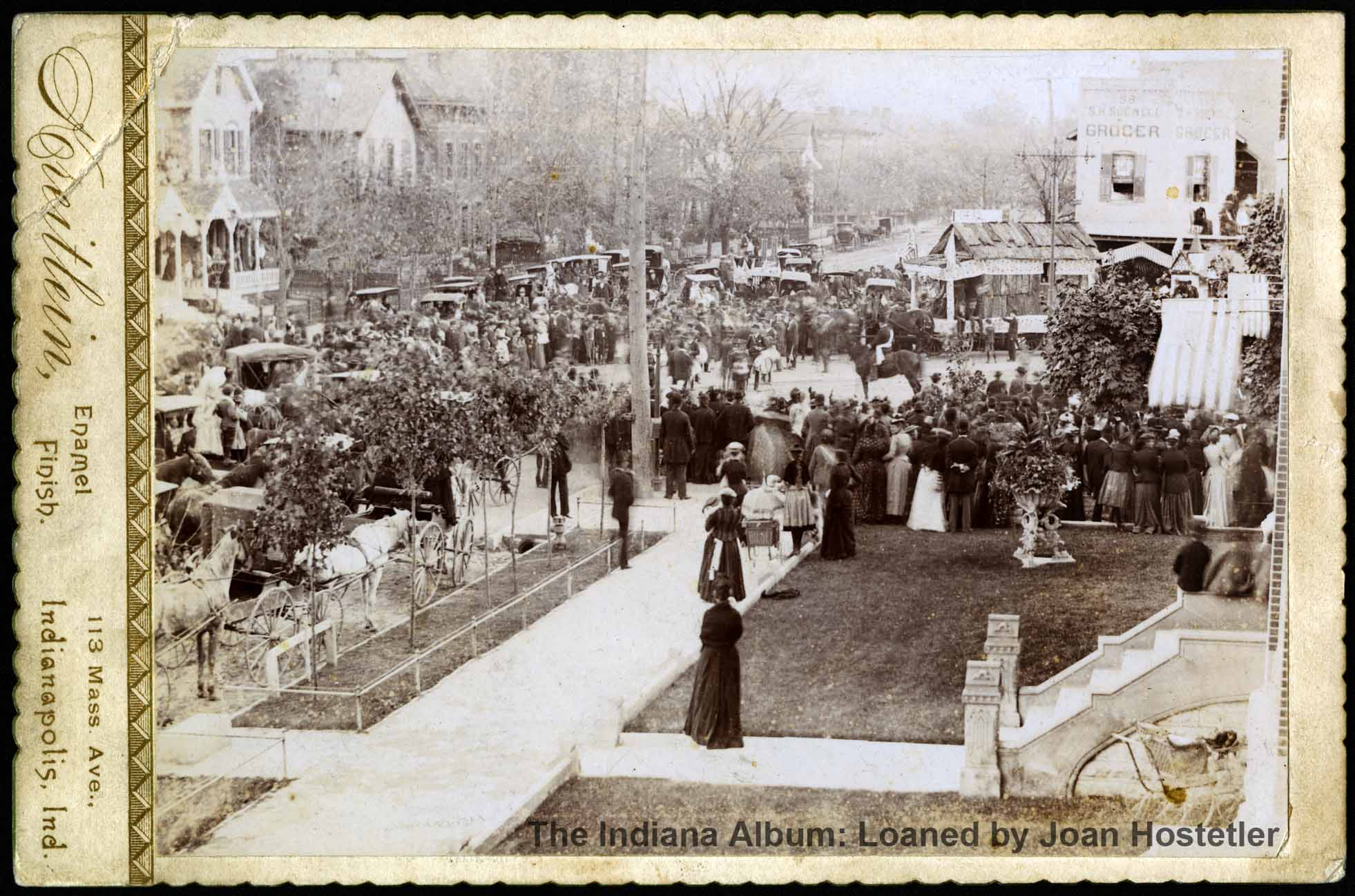 Indianapolis Then and Now: Columbus Day Parade on Massachusetts Avenue