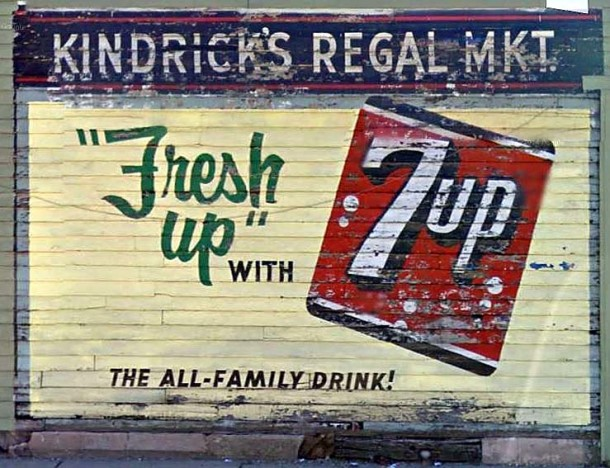 Advertising mural for Kindrick's Regal Market