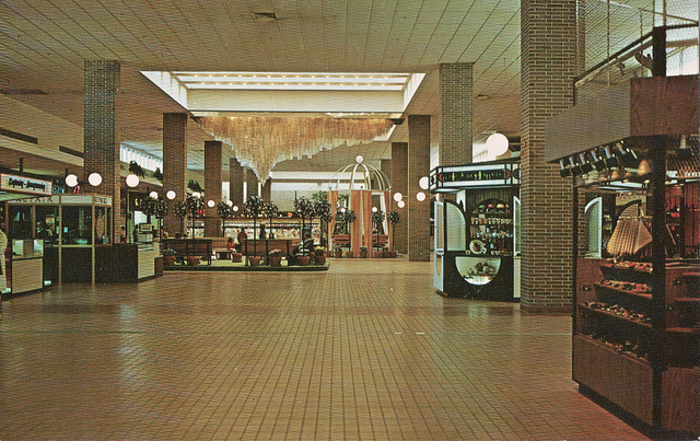 This is the interior of Glendale after it was covered. Judging by the earth-tones this postcard was probably taken in the mid-seventies (courtesy Evan Finch)