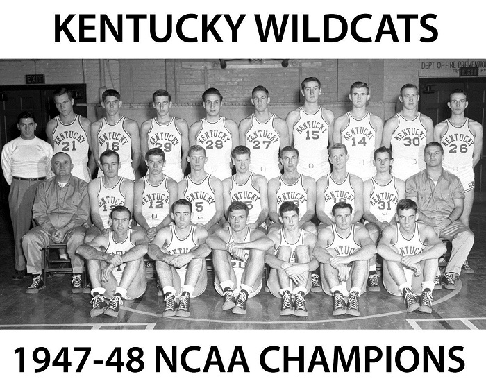 """The 1948 """"champions"""" from the University of Kentucky. Future Olympians include"""