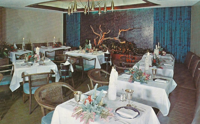 The Driftwood Room Restaurant, a late addition to the Marott, could not restore the hotel to its former glory (courtesy Evan Finch)