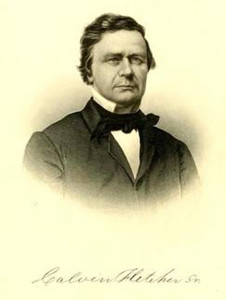 Calvin Fletcher (from the book Greater Indianapolis by Jacob Piatt Dunn