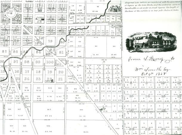 1838 map by William Sullivan, Surveyor, Cincinnati, Ohio from the personal collection of Georgia Cravey
