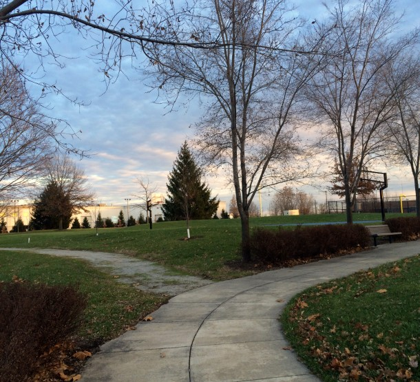 Willard Park is just one mile east of downtown Indianapolis, making it a great place for downtown employees to take a midday walk