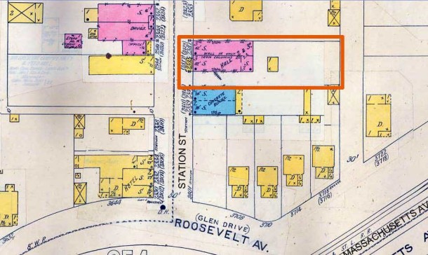 1898 Sanborn Fire Insurance Map #251, Updated to 1913 (IUPUI University Library)