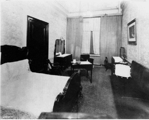 Although quite tiny by today's standard this room would have been quite luxurious in 1929 (courtesy Bass Photo Company Collection, Indiana Historical Society)